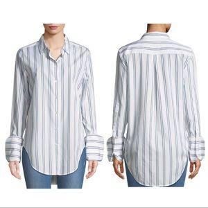 Equipment striped shirt w/ Neapolitan cuff, size S
